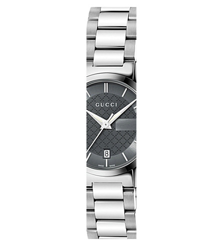 GUCCI YA126522 G-Timeless stainless steel watch (Anthracite