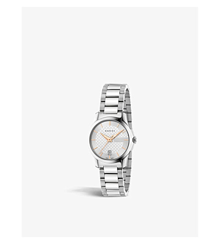 GUCCI YA126523 G-Timeless stainless steel watch (Silver