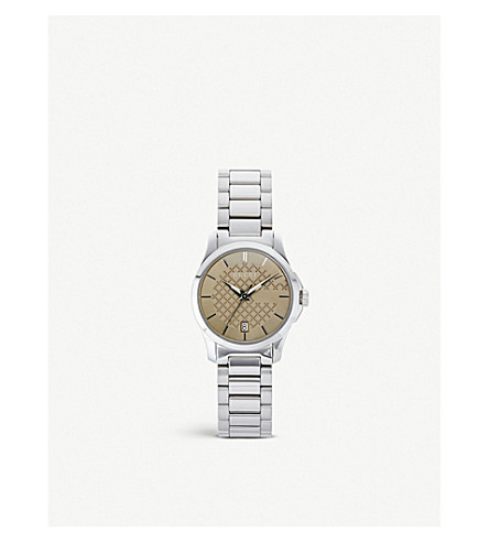 GUCCI YA126526 G-Timeless stainless steel watch