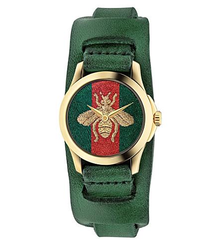 GUCCI Ya126545 g timeless leather watch