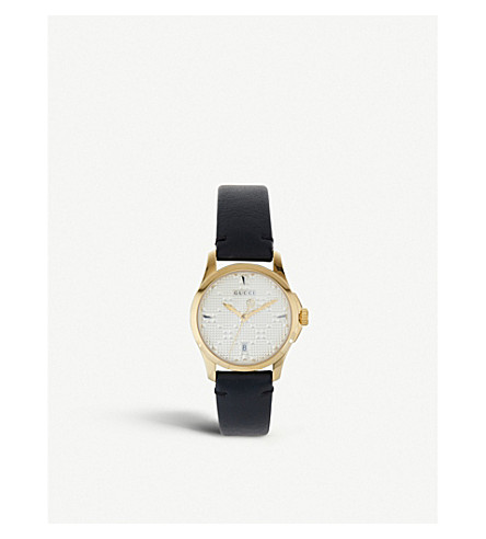 GUCCI G-Timeless gold-toned watch
