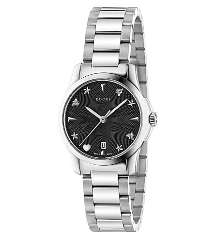GUCCI YA126573 G-Timeless stainless steel watch
