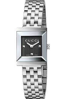 GUCCI YA128403 G-Frame Collection stainless steel watch