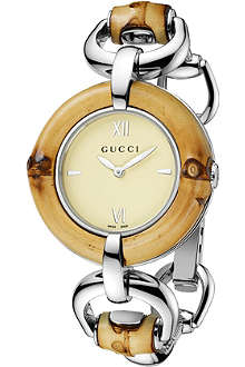 GUCCI YA132404 bamboo collection stainless steel watch