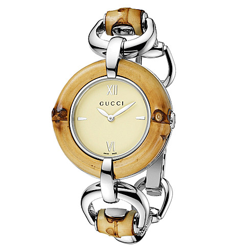 GUCCI YA132404 bamboo collection stainless steel watch (Steel