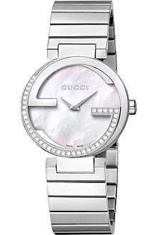 GUCCI YA133508 interlocking-G diamond quartz watch