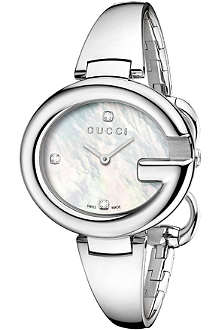 GUCCI YA134303 Guccissima mother-of-pearl quartz watch