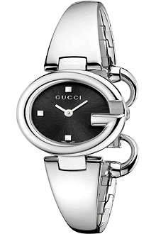 GUCCI YA134501 Guccissima black quartz watch