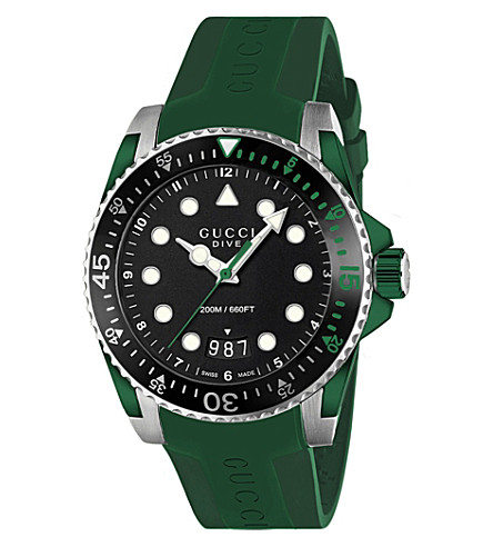 GUCCI YA136310 Dive stainless steel and rubber watch