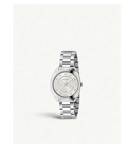 GUCCI YA142504 GG2570 stainless steel and diamond watch