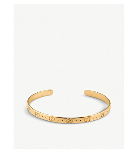 GUCCI Icon 18ct yellow gold bracelet