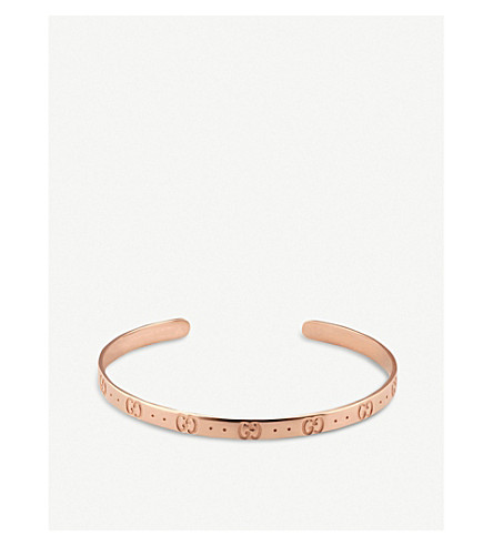 GUCCI Icon 18ct rose gold bracelet