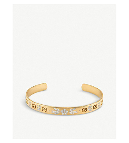 GUCCI Icon blossom 18ct yellow gold bracelet