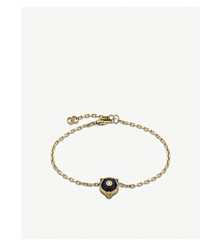 GUCCI Le Marché des Merveilles 18ct yellow-gold, onyx and diamond bracelet (Yellow+gold