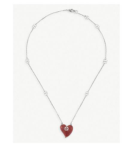 GUCCI San Valentino silver necklace