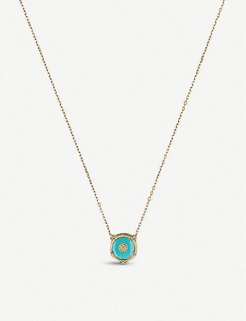 GUCCI Le Marché des Merveilles 18ct yellow-gold, turquoise and diamond necklace