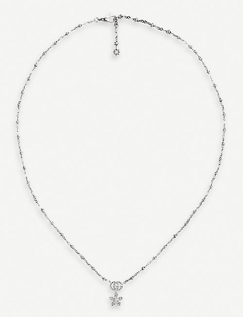 GUCCI Flora 18ct white-gold necklace