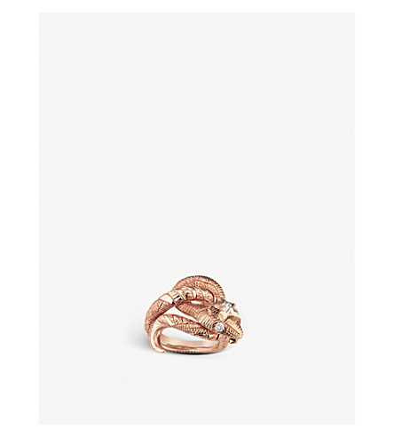 GUCCI Le Marché des Merveilles 18ct rose-gold and diamond ring