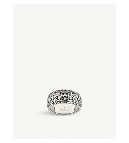 GUCCI Gatto sterling silver ring