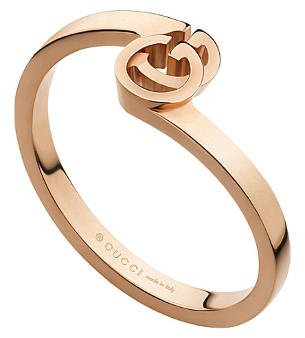 GUCCI GG 18ct rose-gold ring