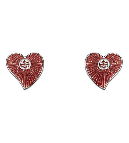 GUCCI San Valentino silver stud earrings