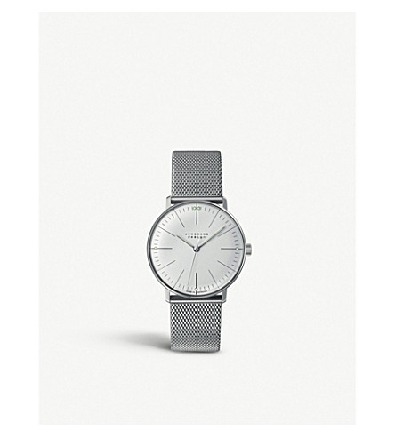 JUNGHANS 027/3004.44 Max Bill stainless steel watch (Silver