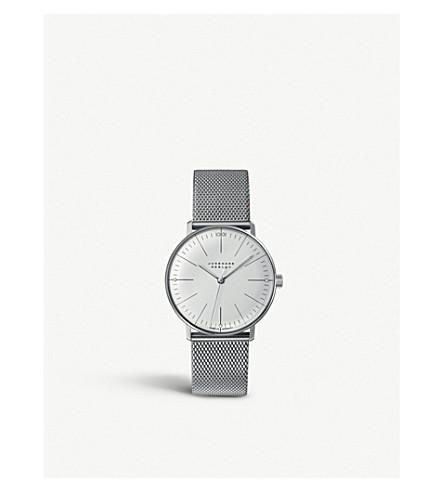 JUNGHANS 027/3004.44 最大钞票不锈钢手表 (银色