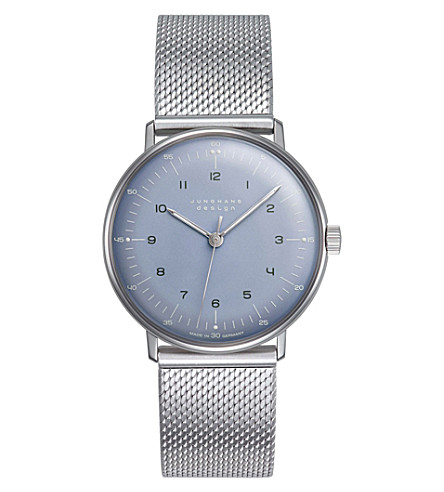 JUNGHANS 027/3600.44 Max Bill stainless steel watch (Ice-blue