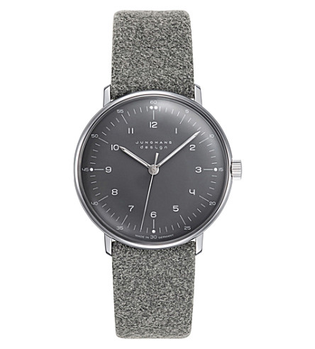 JUNGHANS 027/3602.00 Max Bill felt watch (Grey