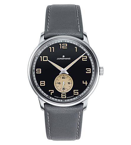 JUNGHANS 尖兵驱动027/3607.00 手绕组手表 (无烟煤 + 灰色