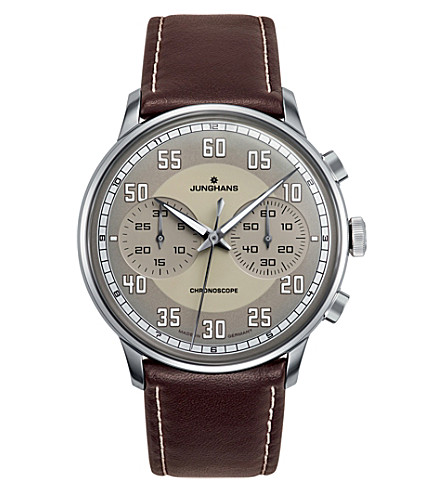 JUNGHANS Meister driver 027/3684.00 chronoscope watch (Sand