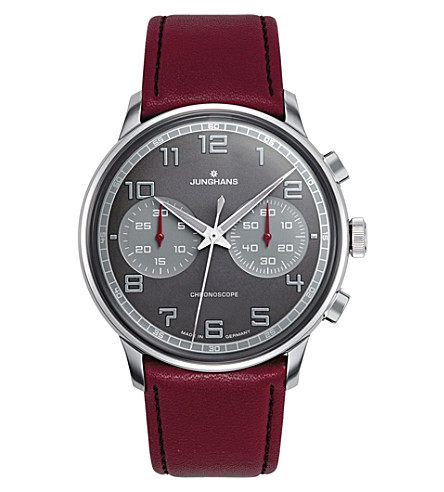 JUNGHANS Meister driver 027/3685.00 chronoscope watch (Grey