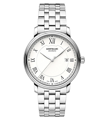 MONTBLANC Boheme tradition date 112610 stainless steel watch (White