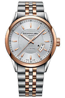 RAYMOND WEIL 2730-SP565021 Freelancer steel and rose gold-plated watch