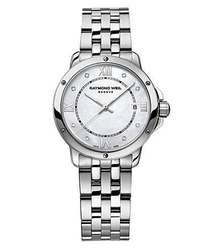 RAYMOND WEIL Tango stainless steel 8 diamond watch