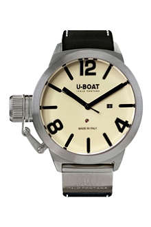 U-BOAT Classico 5571 steel and leather chronograph watch