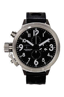 U-BOAT 6117 Flightdeck steel chronograph watch