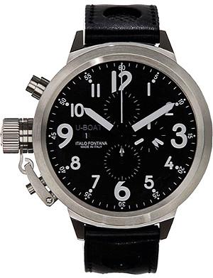 U-BOAT 6117 Flightdeck steel chronograph watch