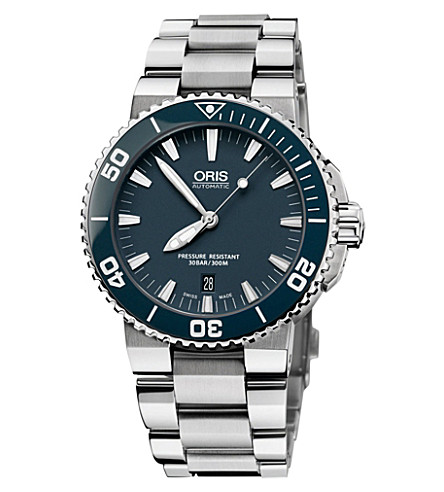 ORIS 73376534155MB Aquis stainless steel watch