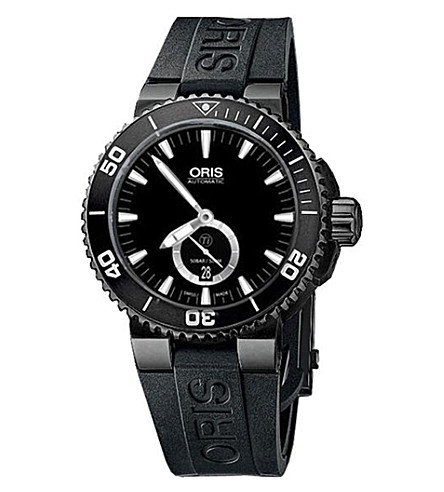 ORIS 73976747754RS Aquis rubber and titanium diving watch