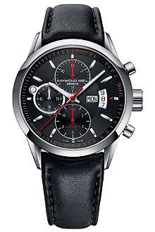 RAYMOND WEIL Leather strap automatic watch