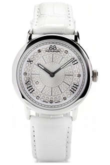 88 RUE DU RHONE 87WA120008 stainless steel and leather watch