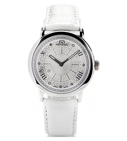 88 RUE DU RHONE 87WA120008 stainless steel and leather watch (White