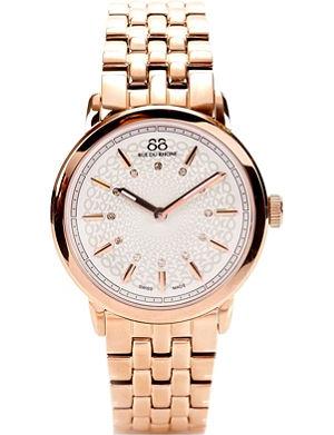 88 RUE DU RHONE 87WA120013 rose gold PVD watch