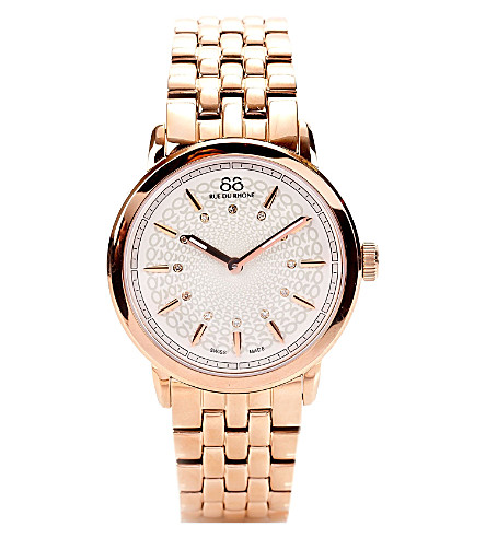 88 RUE DU RHONE 87WA120013 rose gold PVD watch (Rose+gold