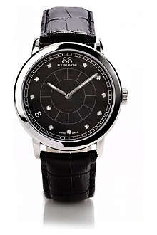 88 RUE DU RHONE 87WA120026 stainless steel and leather watch