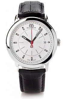 88 RUE DU RHONE 87WA120027 stainless steel and leather watch
