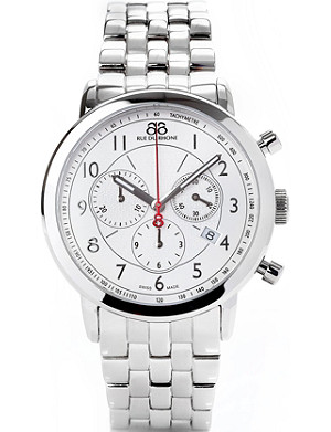 88 RUE DU RHONE 87WA120044 stainless steel chronograph watch