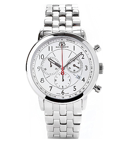 88 RUE DU RHONE 87WA120044 stainless steel chronograph watch (Silver