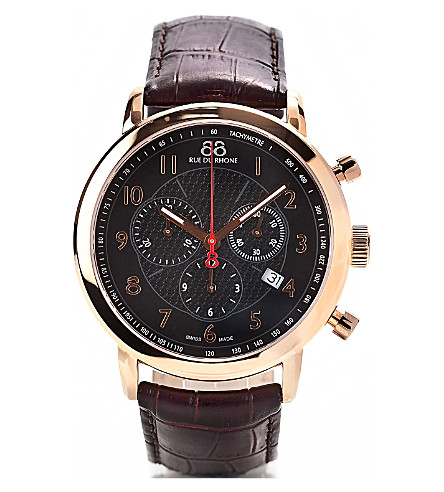 88 RUE DU RHONE 87WA120050 chronograph watch (Brown